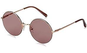 Local Supply Women's STUDIO STUDIO | RGP20 Round Sunglasses, Polished Rose Gold Metal Frames, 52 mm