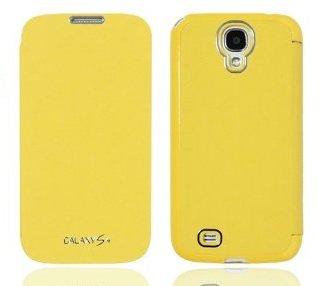 GALAXY S4 フリップカラーケース (docomo GALAXY S4 SC-04E / Samsung Galaxy S IV 対応 By ARIUM DESIGN) Flip Cover (ワンセグ対応/ICカード収納/画面保護フラップ Yellow(黄色))