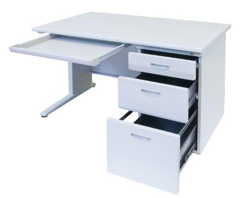 事務机 片袖机 スチールデスク W1200*D700*H700mm オフィスデスク