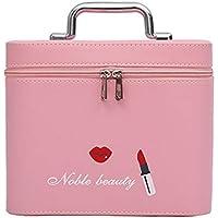 プリントされたハンドバッグ小さなスクエアバッグ化粧ケース (色 : ピンク)