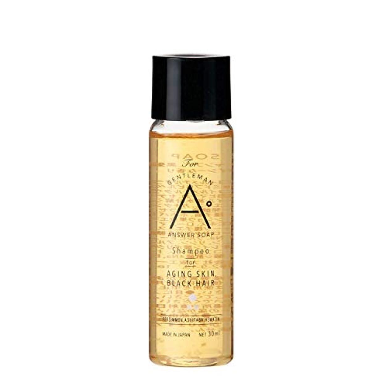 認可独裁者買収ANSWER SOAP シャンプー トラベルサイズ 30mL【 お試し 頭皮ケア スカルプ 男性用 メンズ 】 (黒髪)
