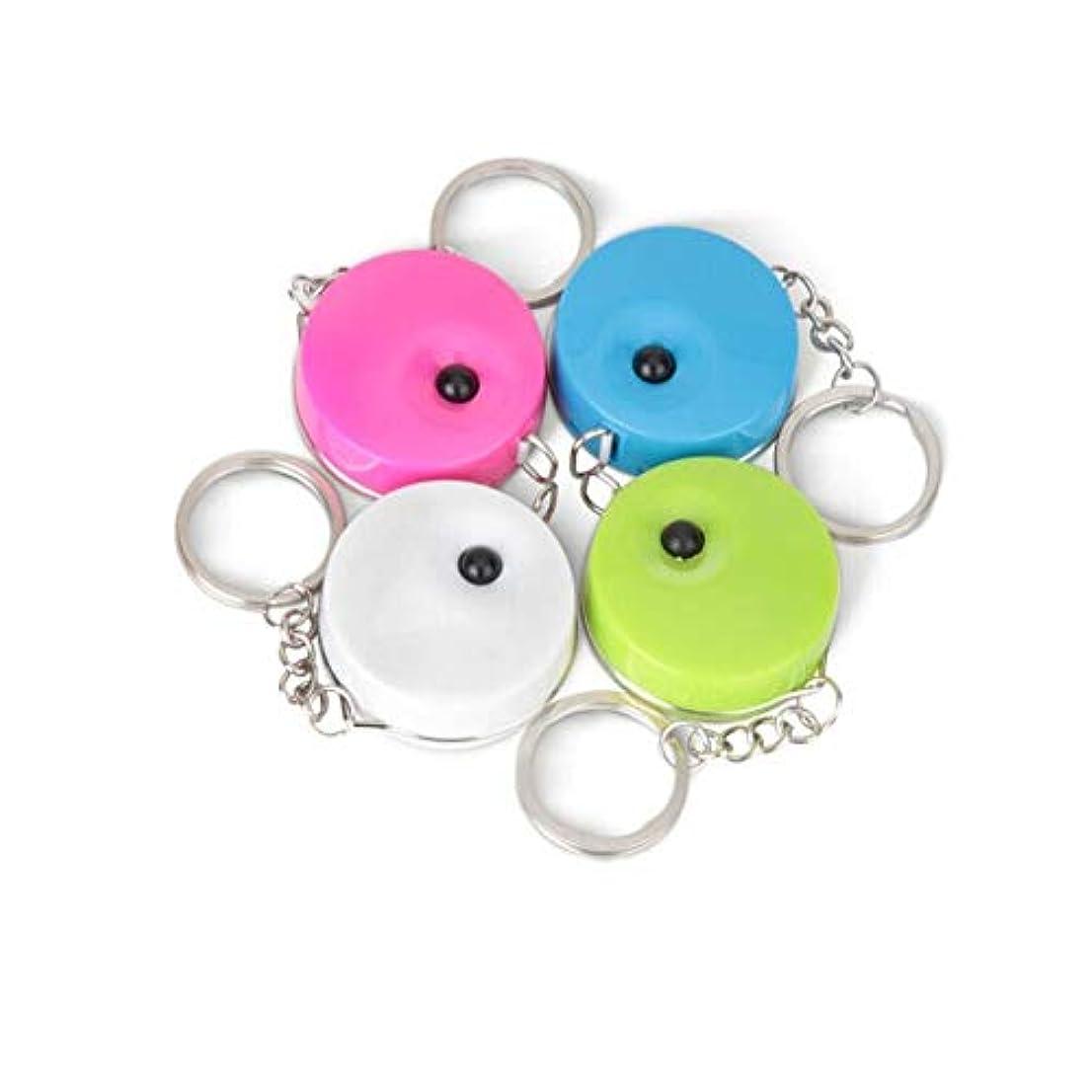 着る捨てる検出Boyuanweiye001 1.5メートルキーチェーン小巻き尺、ポータブルミニレザー巻き尺、マルチカラーオプション 高品質 (Color : Pink, Size : 1.5m)
