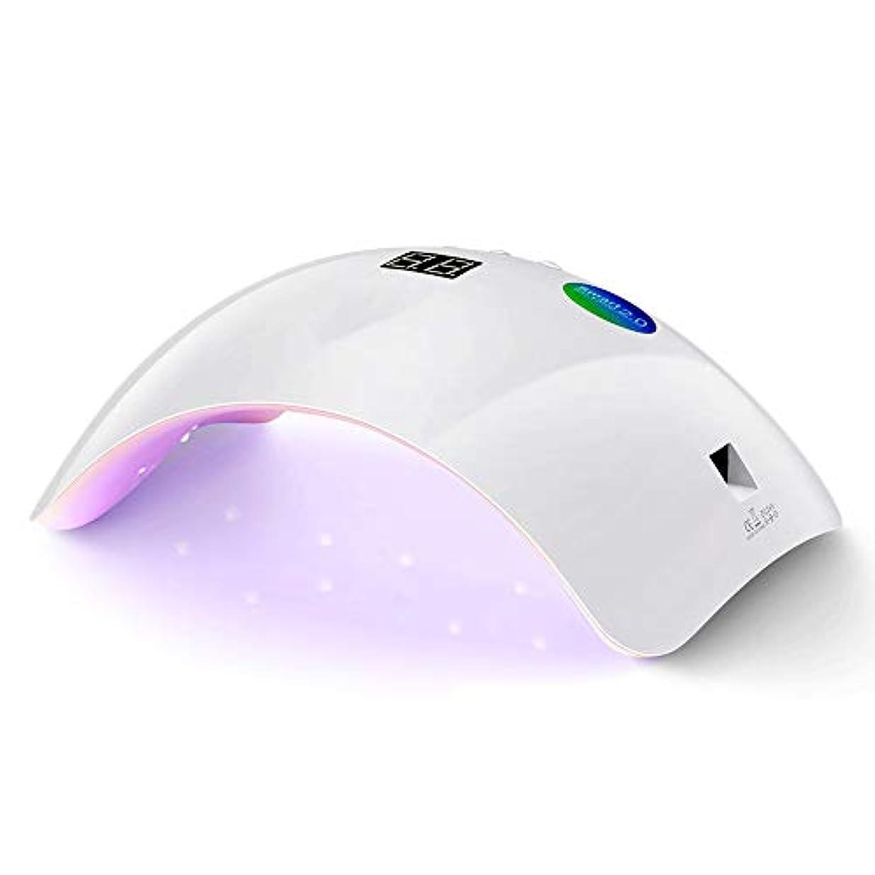 ふくろう原子薄いです36W UV LEDランプネイルドライヤー、ジェルネイルポリッシュ、スマートライト機能付、30秒/ 60秒、99秒低カロリーシェラック