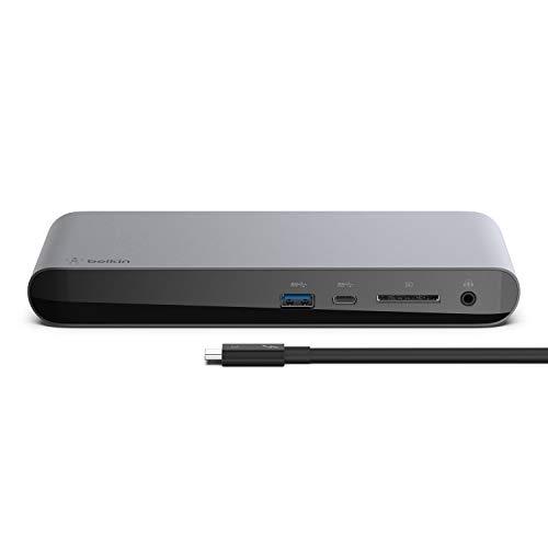 ベルキン Thunderbolt™ 3 Express Dock Pro HD (0.8m Thunderbolt 3ケーブル付)サンダーボルト ドッキングステーション SDカードリーダー付【国内正規代理店品】