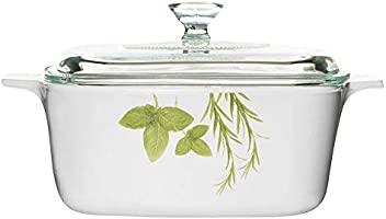 Corningware Stovetop, Pyroceram, European Herbs Covered Casserole Dish