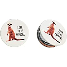 Urban Products UP105013 Meerkat Compact Mirror Brown H1x6x6cm