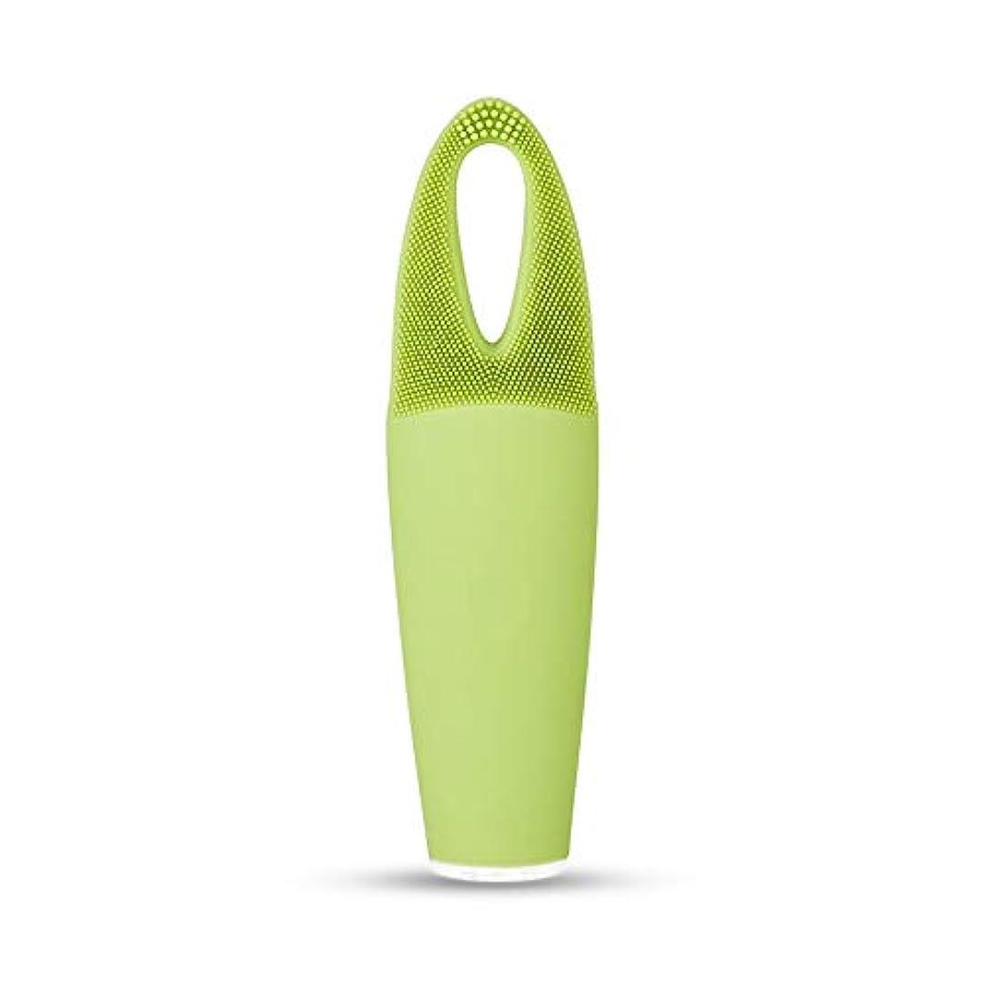 パパ監査有限ZXF 電気防水両面クレンジングブラシ超音波振動シリコーンクレンジング楽器敏感な筋肉洗浄器具美容器具マッサージ器具 滑らかである