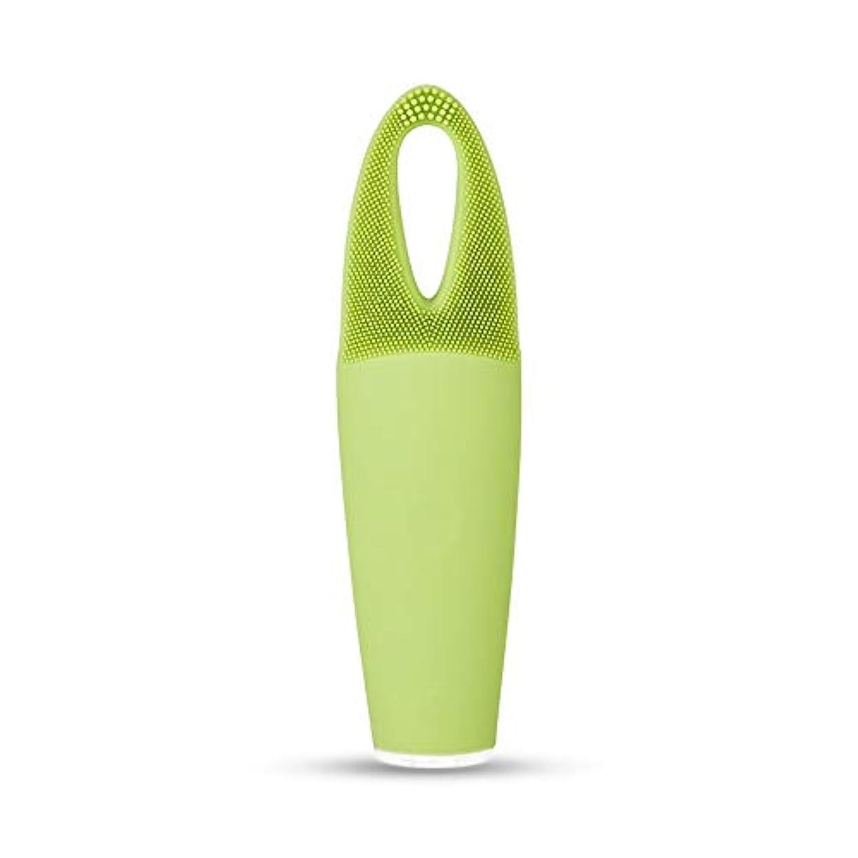 プレミアについてテクスチャーZXF 電気防水両面クレンジングブラシ超音波振動シリコーンクレンジング楽器敏感な筋肉洗浄器具美容器具マッサージ器具 滑らかである