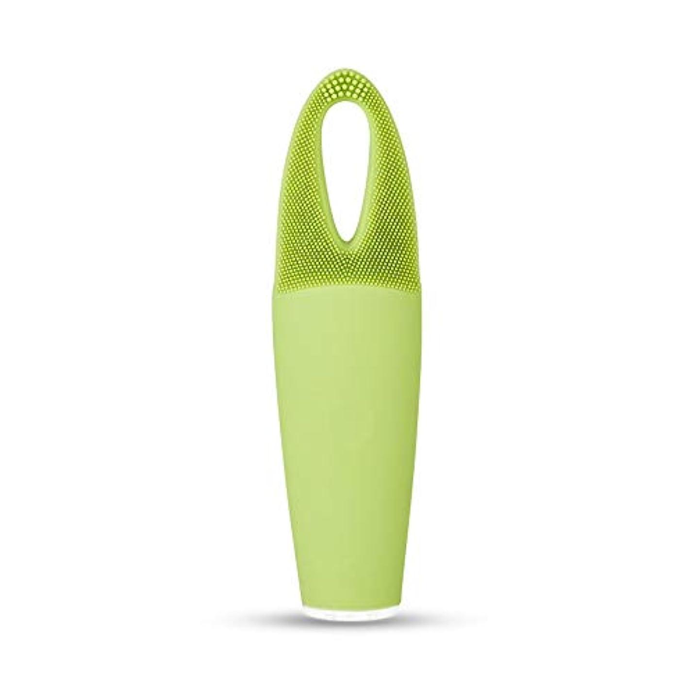 瞑想的原告登場ZXF 電気防水両面クレンジングブラシ超音波振動シリコーンクレンジング楽器敏感な筋肉洗浄器具美容器具マッサージ器具 滑らかである