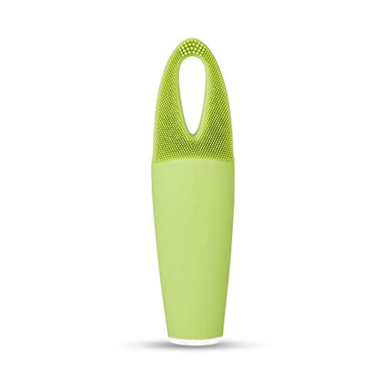 再生可能マージ散文ZXF 電気防水両面クレンジングブラシ超音波振動シリコーンクレンジング楽器敏感な筋肉洗浄器具美容器具マッサージ器具 滑らかである
