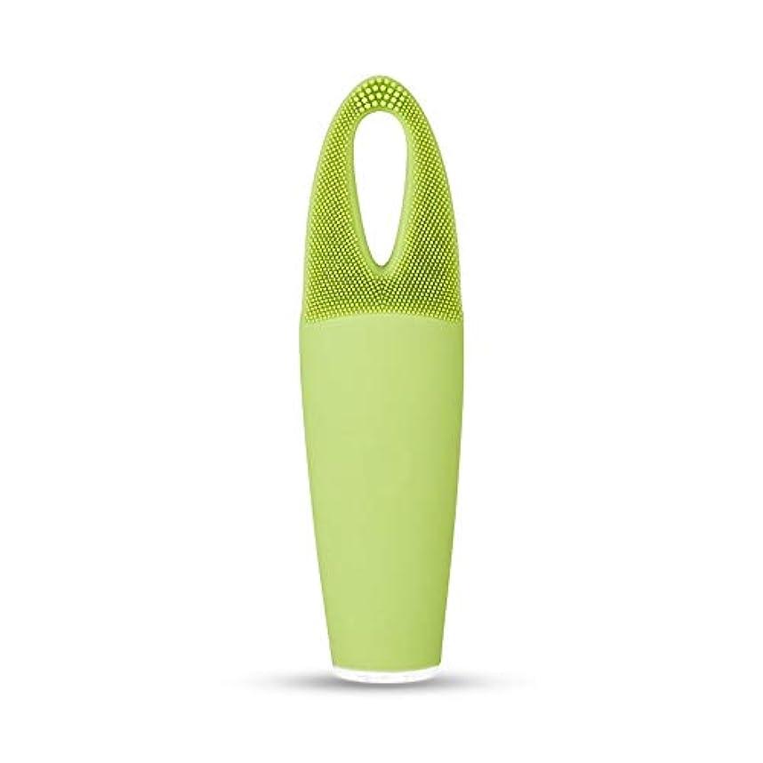 ストレッチうまくやる()有毒なZXF 電気防水両面クレンジングブラシ超音波振動シリコーンクレンジング楽器敏感な筋肉洗浄器具美容器具マッサージ器具 滑らかである