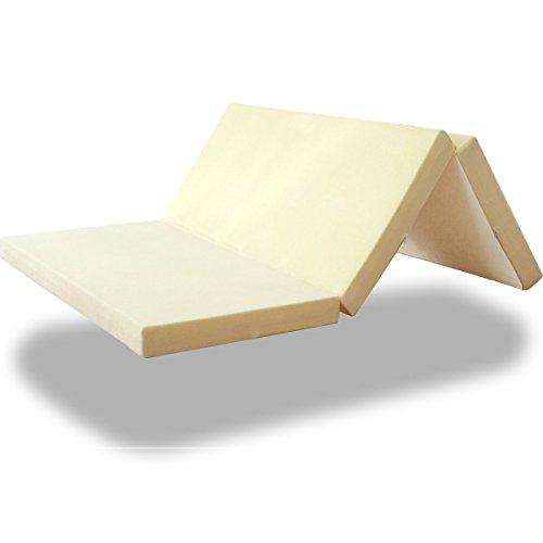 高反発マットレス 三つ折りタイプ 高密度30D 硬め200N 厚さ10cm ダブル