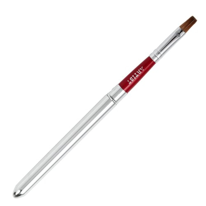 トロイの木馬チョークシマウマ広島熊野筆 携帯リップブラシ 毛質 コリンスキー