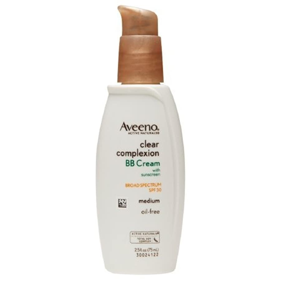 先オッズ動員するAveeno Clear Complexion BB Cream, Medium 2.5 fl oz by AB [並行輸入品]