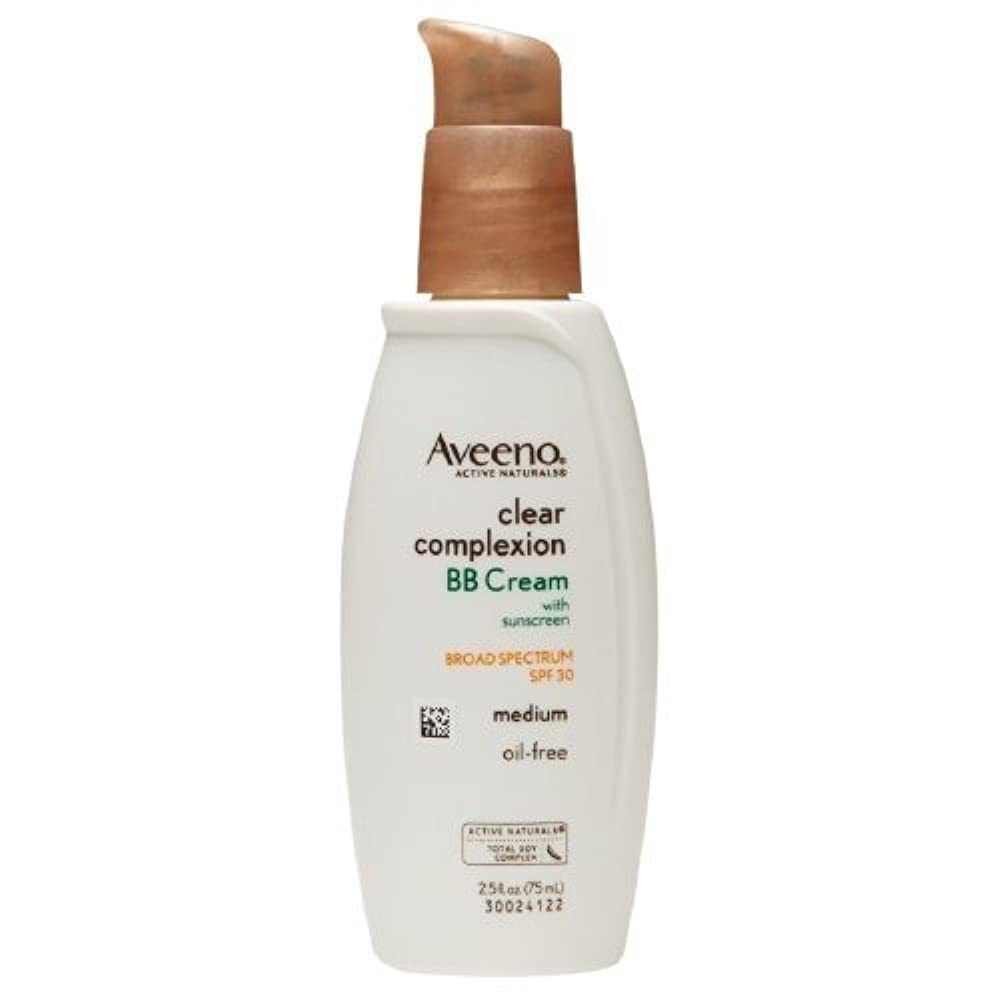 のファン強要Aveeno Clear Complexion BB Cream, Medium 2.5 fl oz by AB [並行輸入品]