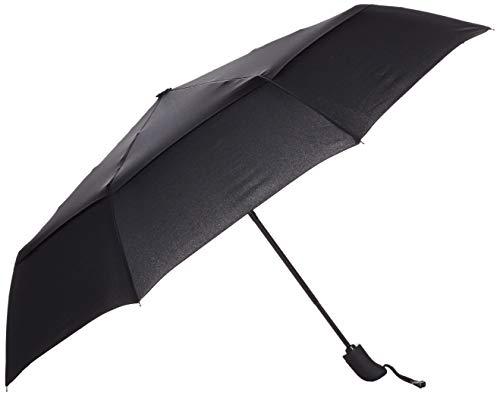 Amazonベーシック 折りたたみ傘 自動 通風孔付き ブラック