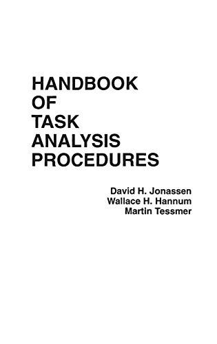 Download Handbook of Task Analysis Procedures 0275926842