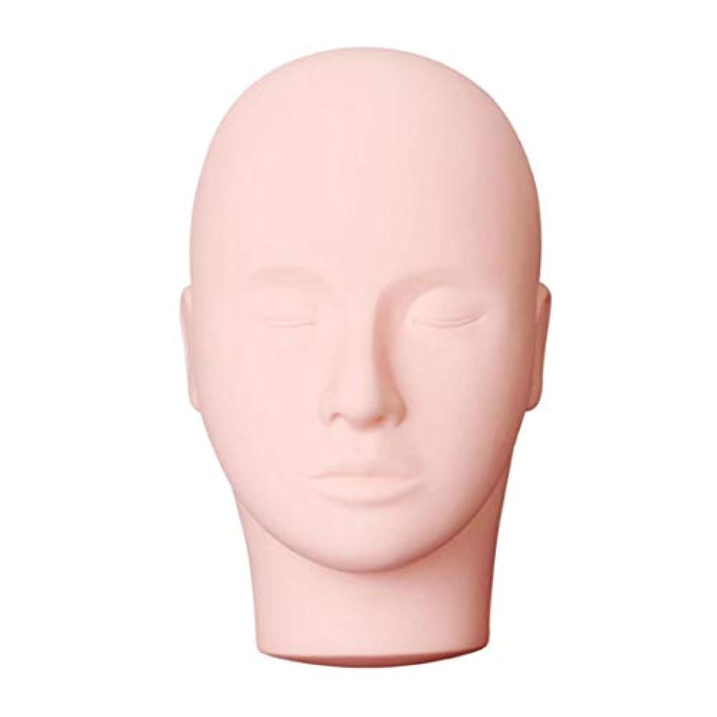 バーチャル退院シール美容メイクアップまつげ練習マネキンプロマッサージ化粧トレーニング美容マネキン人形顔頭モデル (色:黒) (PandaW)