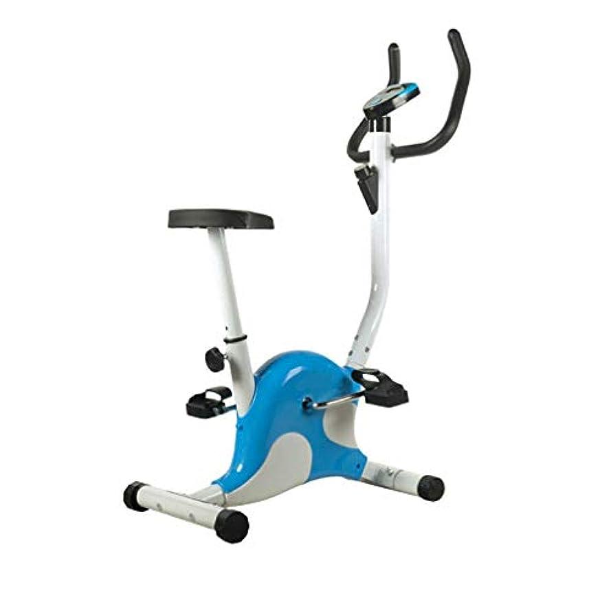 受粉する予知つぼみ屋内 スポーツバイク,調節可能 サイレント 固定バイク,ジム サイクリング マシン トレーニング,心臓 フィットネス スポーツバイク,耐荷重 100キロ,家に 青い 107x62x41cm