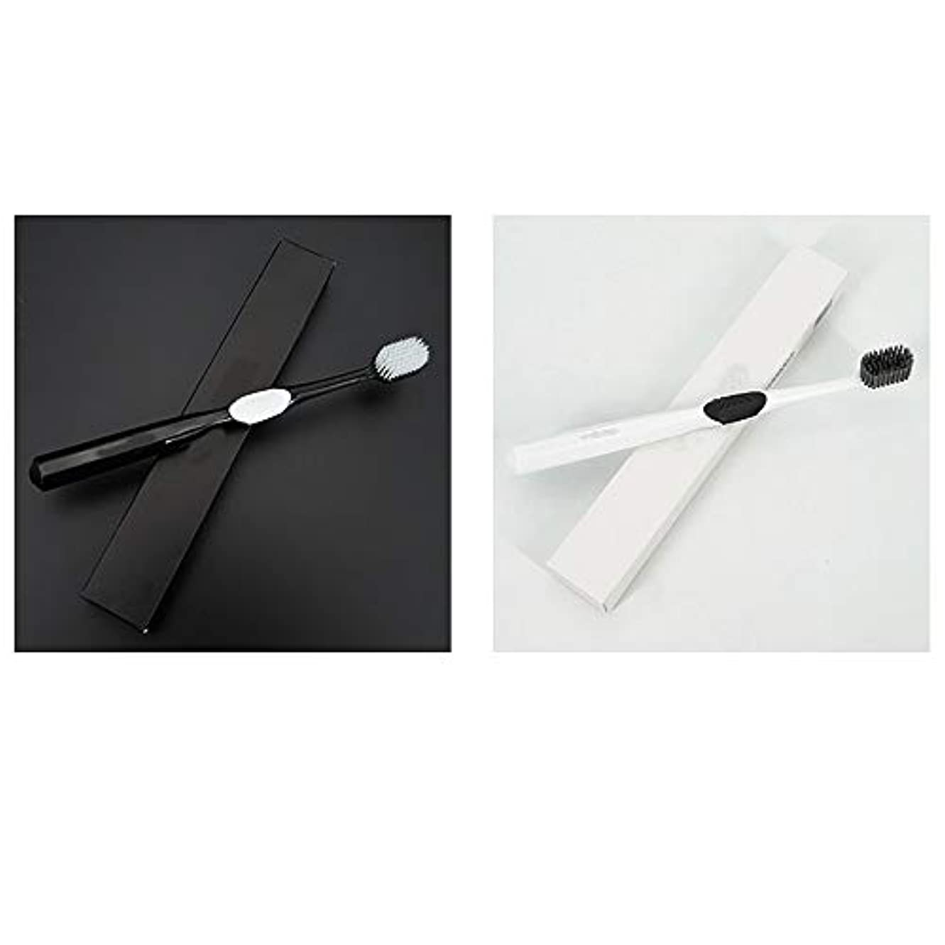 乱用より平らな補助歯ブラシ 4本の歯ブラシ、ナノ柔らかい歯ブラシ、大人バルク歯ブラシ、活性炭歯ホワイトニング HL (サイズ : 4 packs)