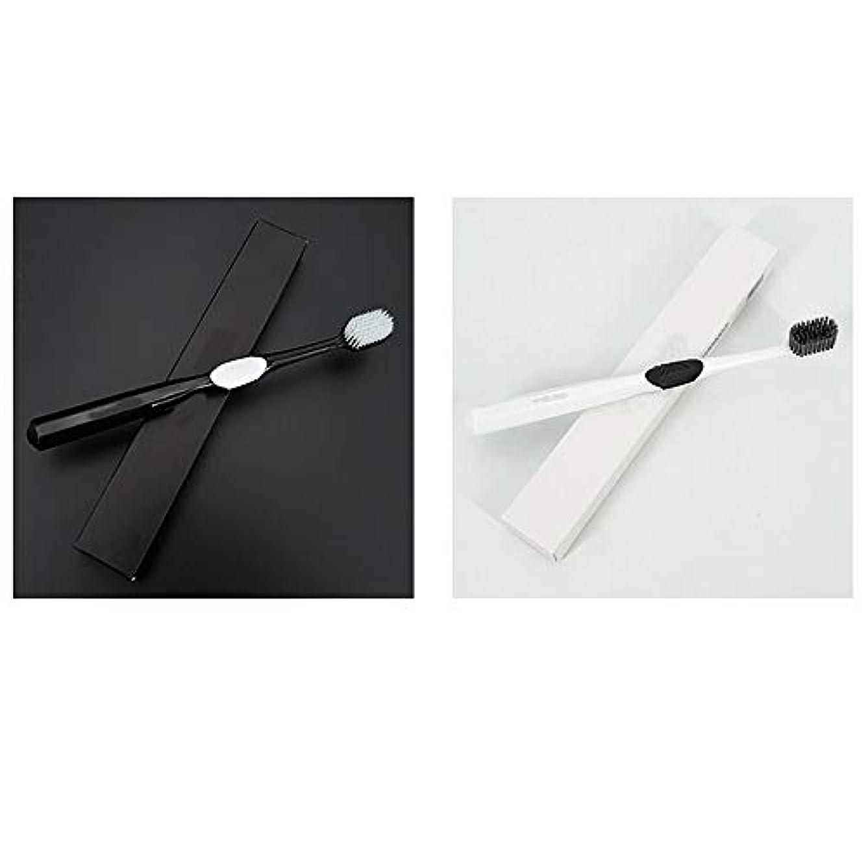 ずらす南極最初歯ブラシ 4本の歯ブラシ、ナノ柔らかい歯ブラシ、大人バルク歯ブラシ、活性炭歯ホワイトニング HL (サイズ : 4 packs)