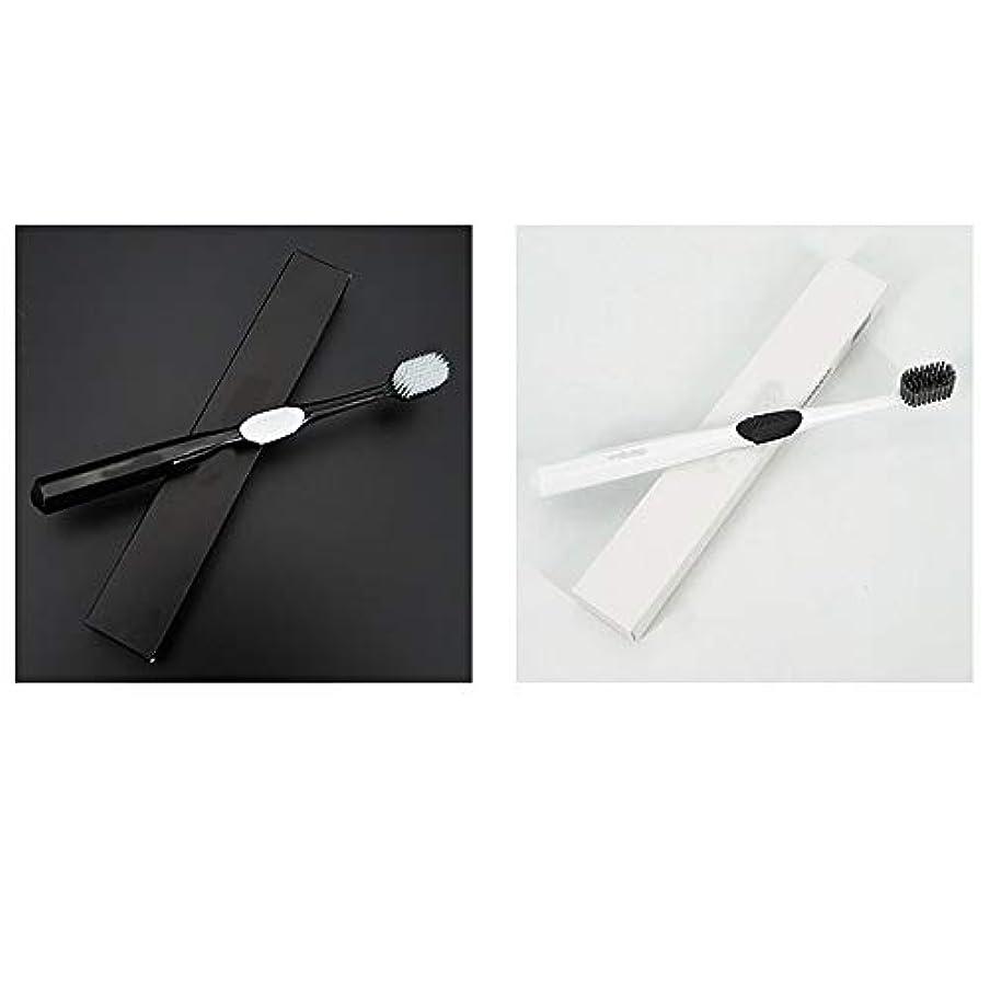 再集計非難する震える歯ブラシ 4本の歯ブラシ、ナノ柔らかい歯ブラシ、大人バルク歯ブラシ、活性炭歯ホワイトニング HL (サイズ : 4 packs)
