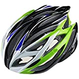 Osize 大人の調節可能な自転車ヘルメット多孔質の自転車ヘルメット自転車ヘルメット(緑)