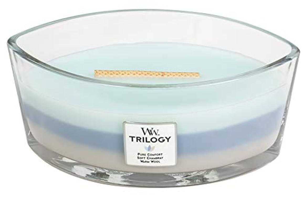ピザレーザマーチャンダイザーWOVEN COMFORTS TRILOGY - HearthWick Flame Scented Candle by WoodWick - 3 in One