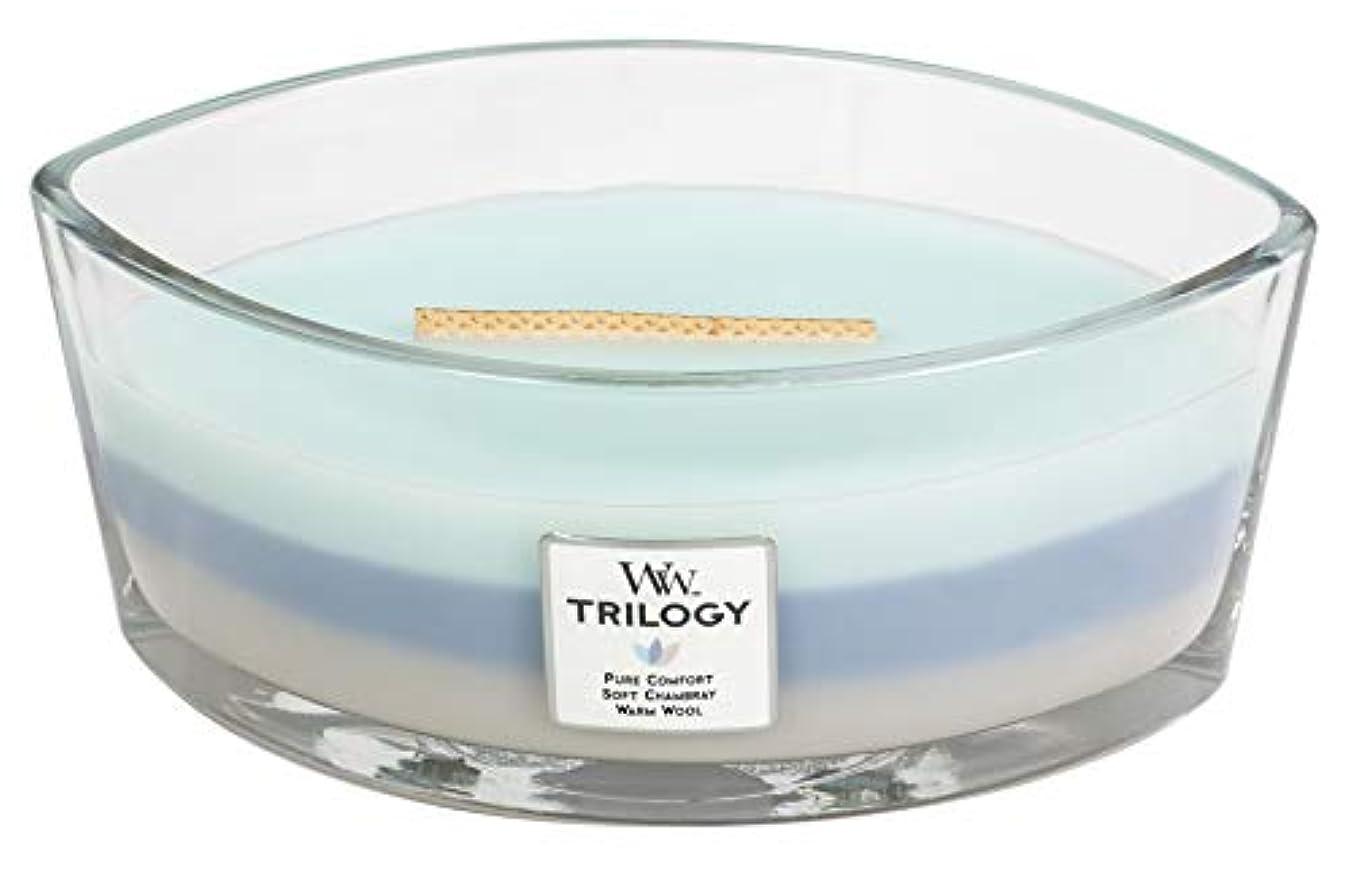 ジャーナリスト第三置き場WOVEN COMFORTS TRILOGY - HearthWick Flame Scented Candle by WoodWick - 3 in One