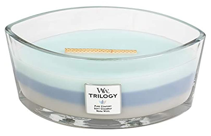 ガレージ無条件瀬戸際WOVEN COMFORTS TRILOGY - HearthWick Flame Scented Candle by WoodWick - 3 in One