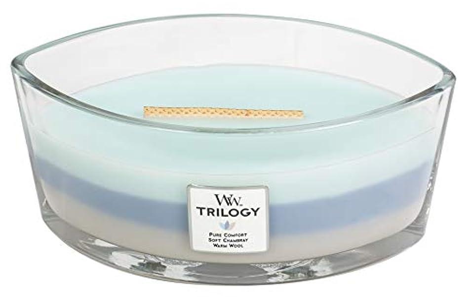 資料浮くきらめくWOVEN COMFORTS TRILOGY - HearthWick Flame Scented Candle by WoodWick - 3 in One