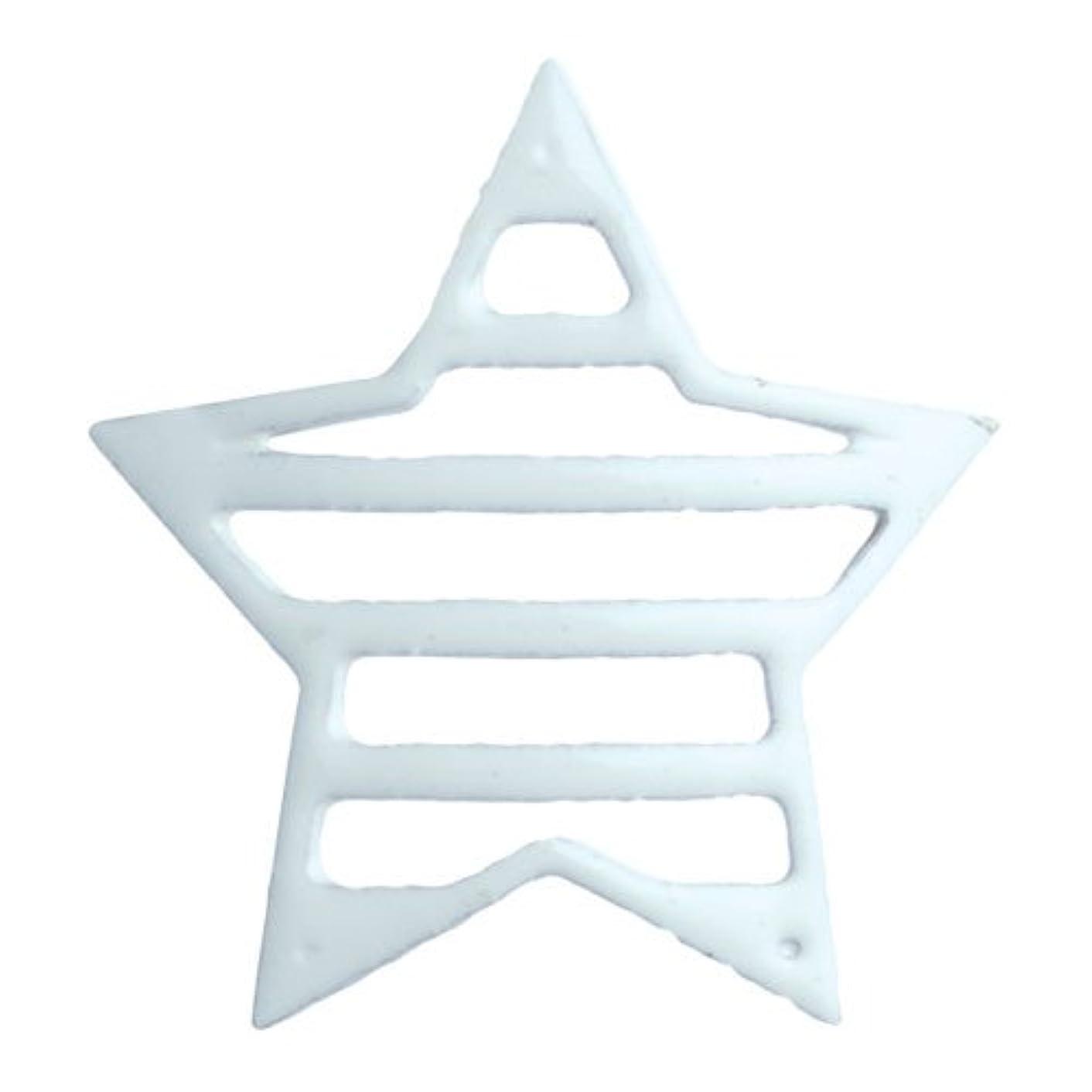 考古学者グループ私達リトルプリティー ネイルアートパーツ 星ボーダー L ホワイト 10個 白