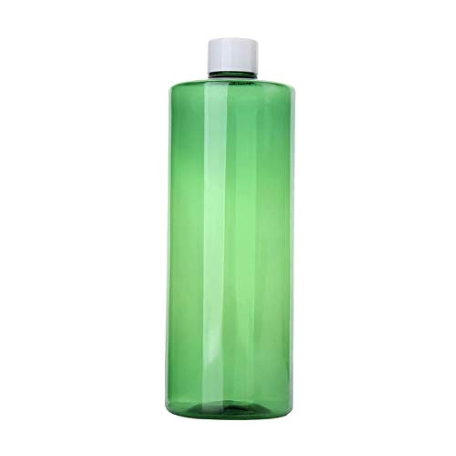 ポジティブ負担ダウン1本 化粧品用 詰め替えボトル 詰め替え容器 大容量 500ml 中栓付き 使いやすい 化粧水用 シャンプー クリーム 貯蔵用 携帯用 空容器 おしゃれ 白ヘッド グリーン