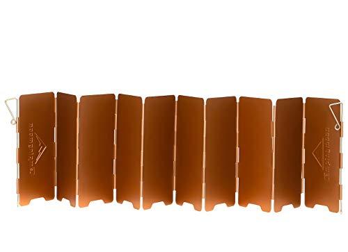 キャンピングムーン(CAMPING MOON) ピクニック用 風よけウインドスクリーン アルミ製 風除板 折り畳み式 風防板 酸化アルミ被膜 プレート アウトドア パートナー 収納ケース付き