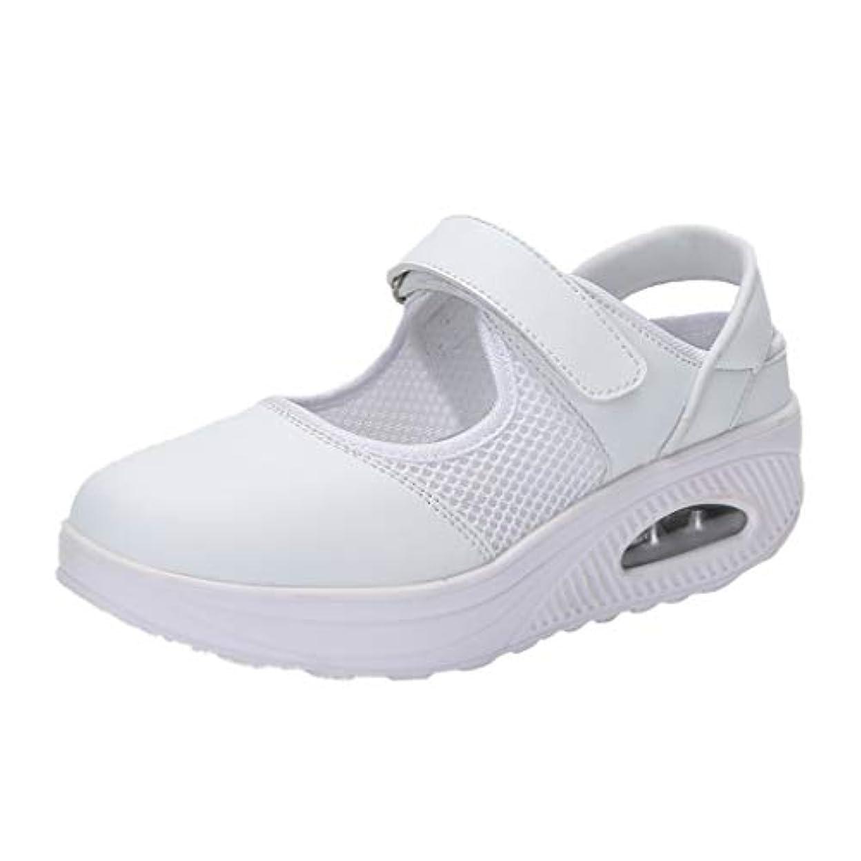 朝の体操をするハードウェアしたがってナースシューズ liqiuxiang お母さん 婦人靴 スボーツスニーカー ウォーキングシューズ 看護師 作業靴 軽量 マジックタイプ スニーカーサンダル ケアセフティ レディース