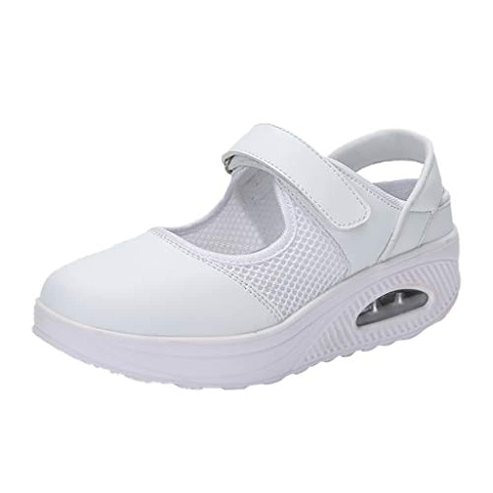 ネーピアチキン透けて見えるナースシューズ liqiuxiang お母さん 婦人靴 スボーツスニーカー ウォーキングシューズ 看護師 作業靴 軽量 マジックタイプ スニーカーサンダル ケアセフティ レディース