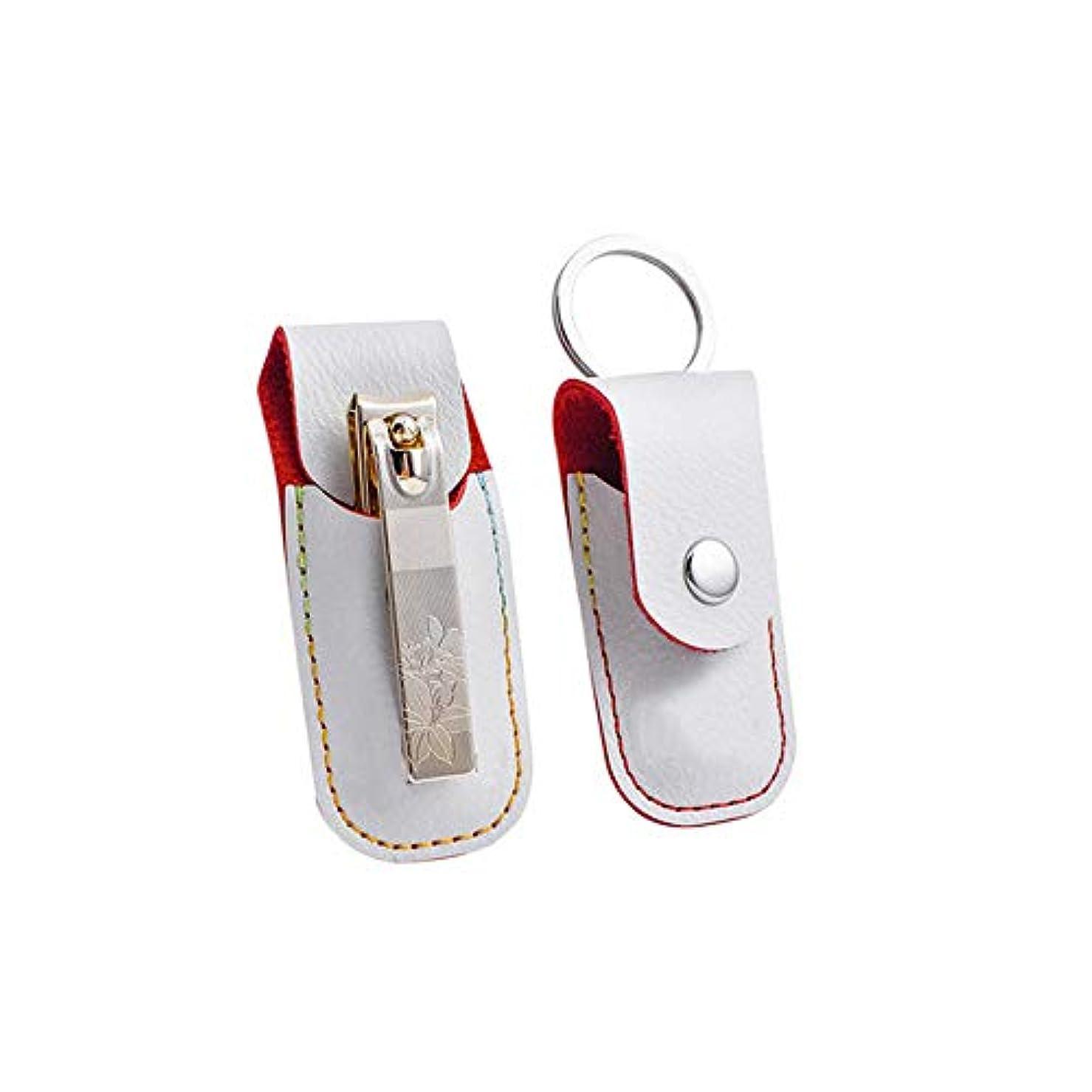 切断するアカデミック不要人気爪切りステンレス鋼製爪切りプリント爪切り高級PUレザーケース付き、ゴールド