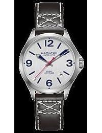 [ハミルトン]HAMILTON 腕時計 Khaki Aviation Air Race 38mm (レッドブルエアレース・オフィシャルタイムキーパーモデル) シルバー&カーフストラップモデル・H76225751 〔正規輸入品〕