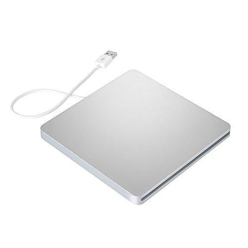 Patech USB 2.0 ポータブルCD/VCD/DVDーRWドライブ スロット設計 スリム型バスパワー対応 Windows/Mac OS用(パールホワイト)