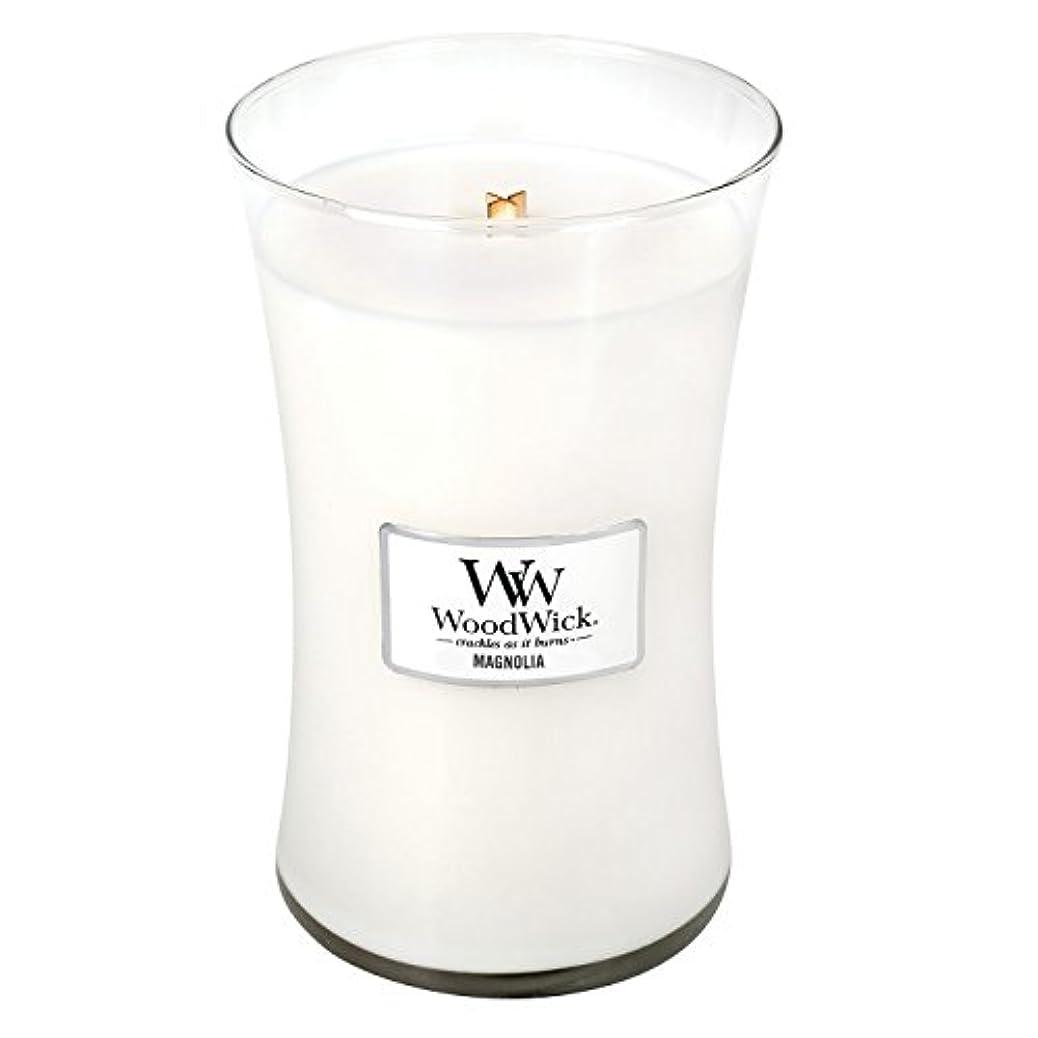 アウタージャム悪党MAGNOLIA WoodWick 650ml Large Hourglass Jar Candle Burns 180 Hours