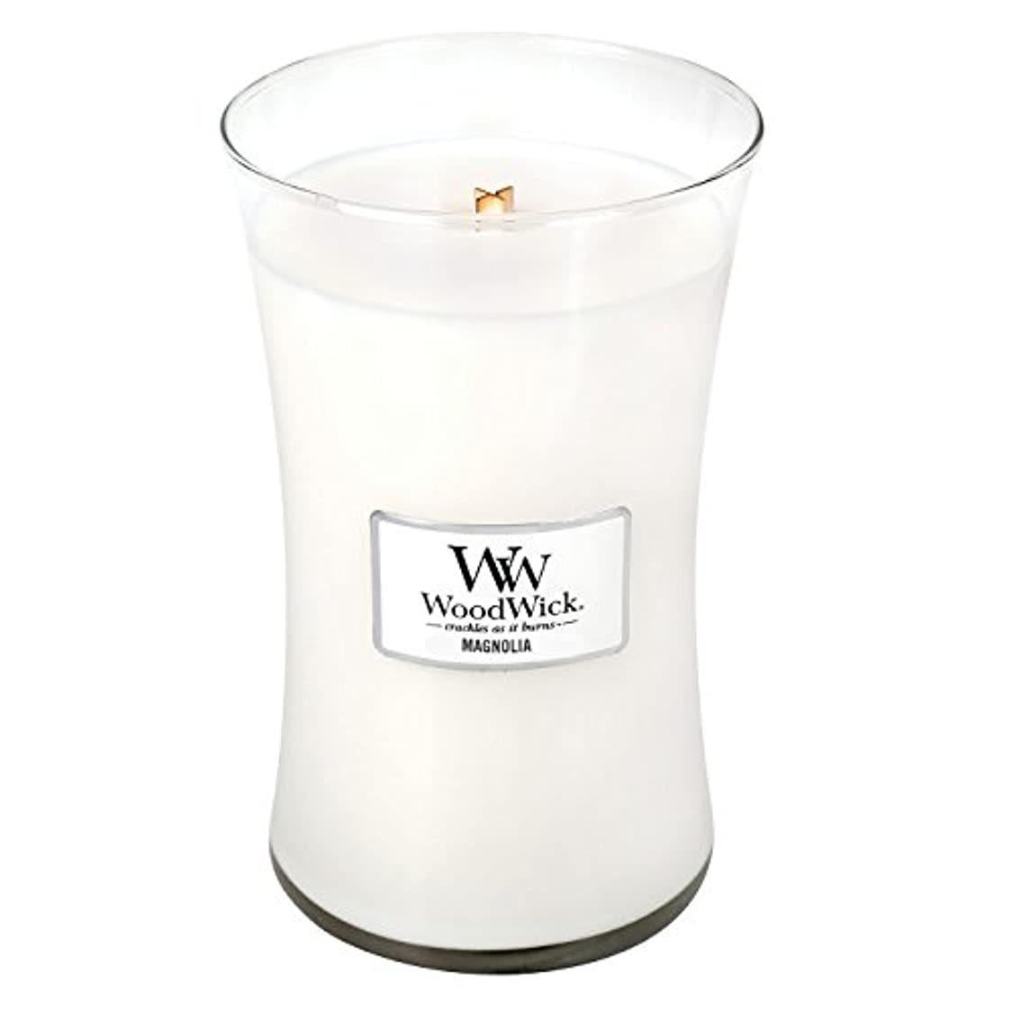 燃料意図するトレーダーWoodwick Magnolia , Highly Scented Candle、クラシック砂時計Jar , Large 7-inch、21.5 Oz