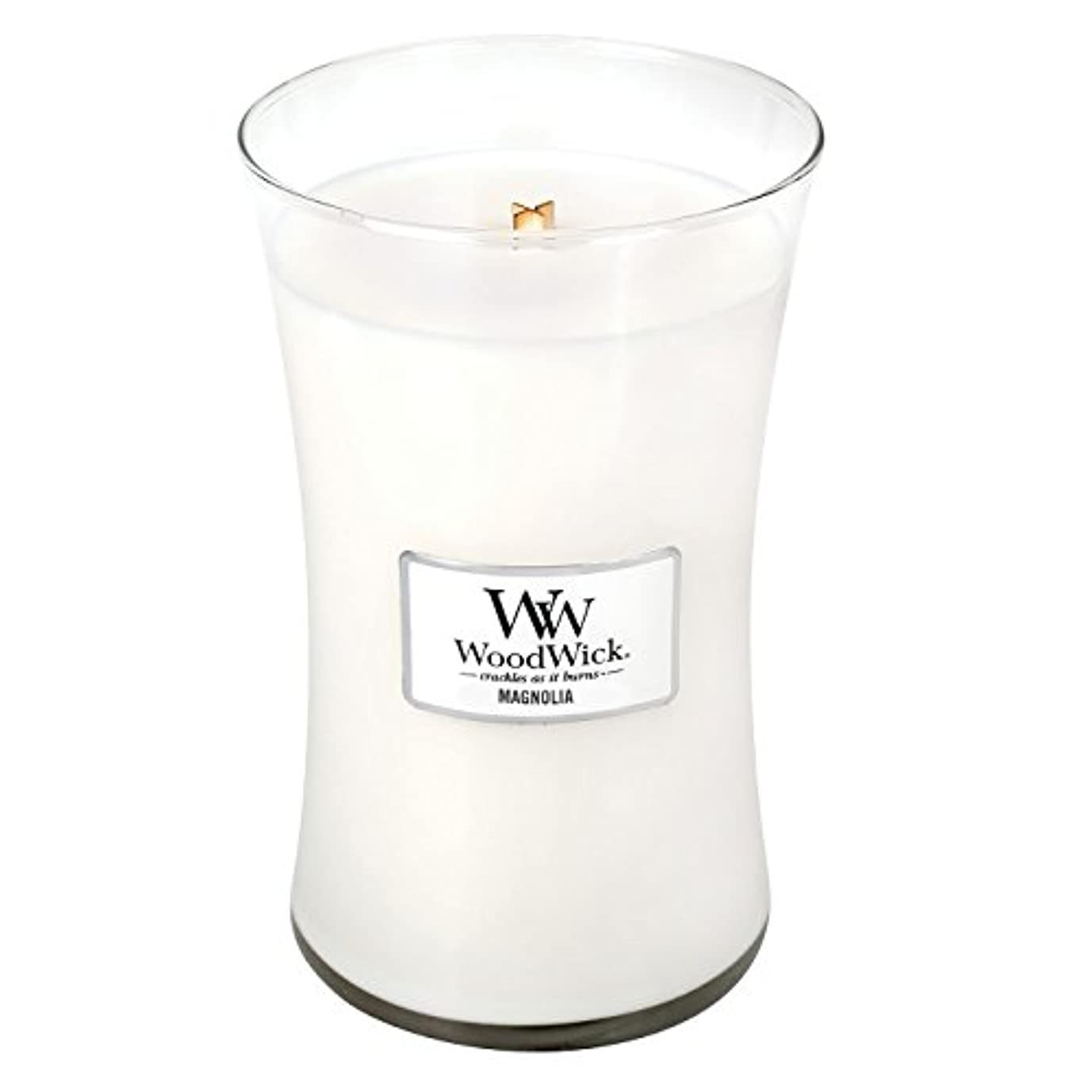 ましい生産的彼らのWoodwick Magnolia , Highly Scented Candle、クラシック砂時計Jar , Large 7-inch、21.5 Oz