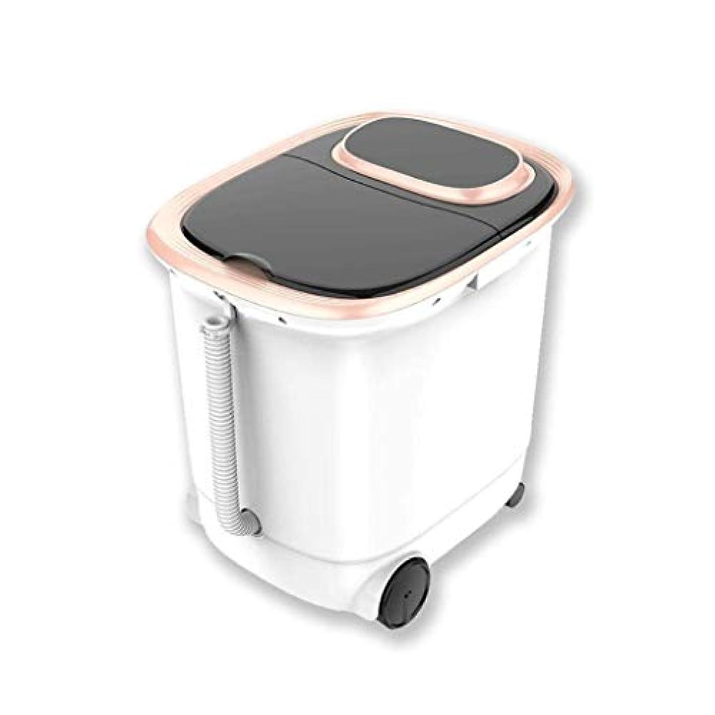 浴室実験室聖なるフットスパマッサージフットバス、自動加熱マッサージフットバス、フットケア磁気療法振動マッサージ、LEDディスプレイ、ストレス解消、睡眠促進