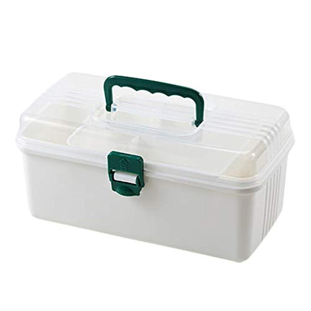 パース修正する正当なピルボックスPP 26 * 12.5 * 13.5cm家庭用薬ボックス薬収納ボックス (色 : 白)
