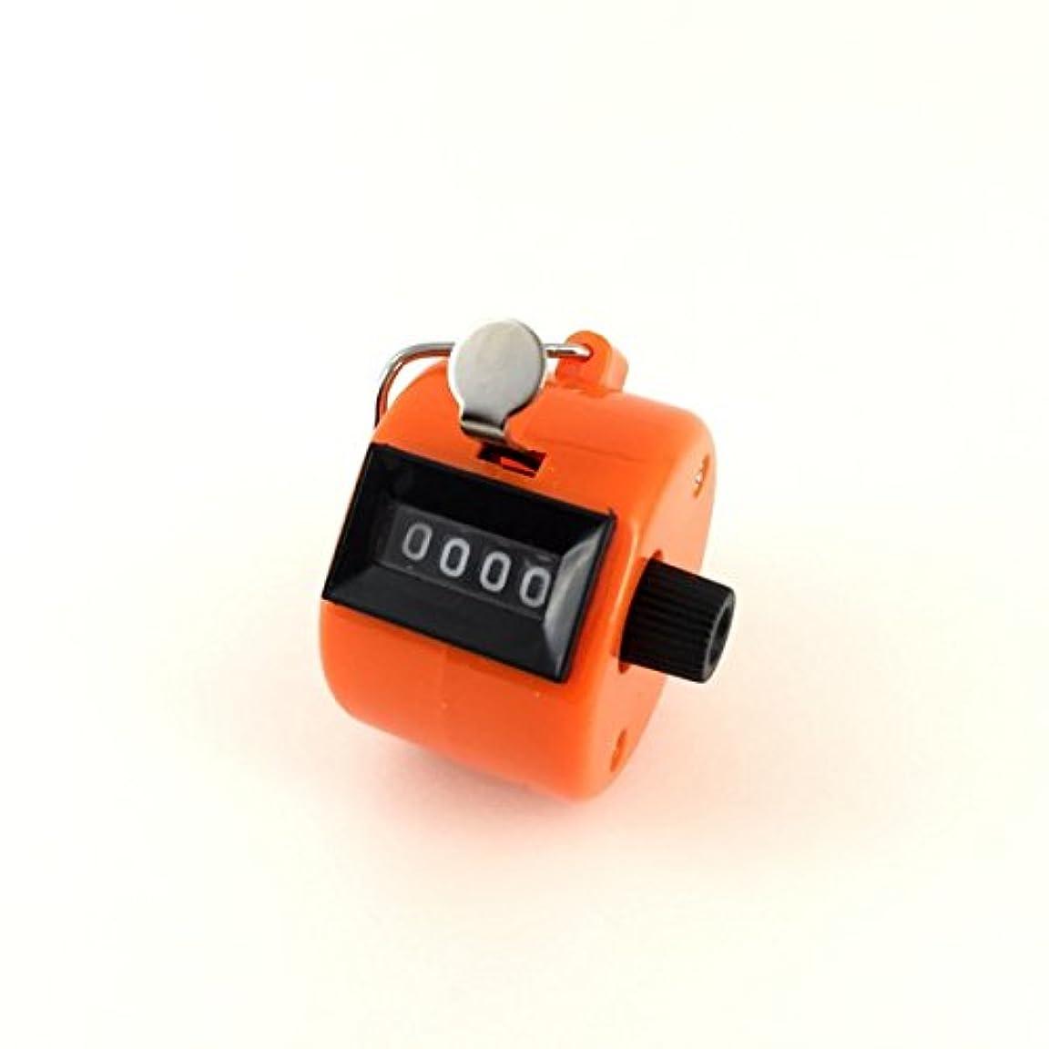 バスルーム電話フリルエクステカウンター 手持ちホルダー付き 数取器 まつげエクステ用品 カラー4色 (オレンジ)