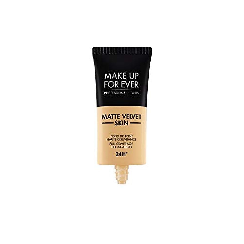 コンプライアンスバックアップ立派なメイクアップフォーエバー Matte Velvet Skin Full Coverage Foundation - # Y255 (Sand Beige) 30ml/1oz並行輸入品