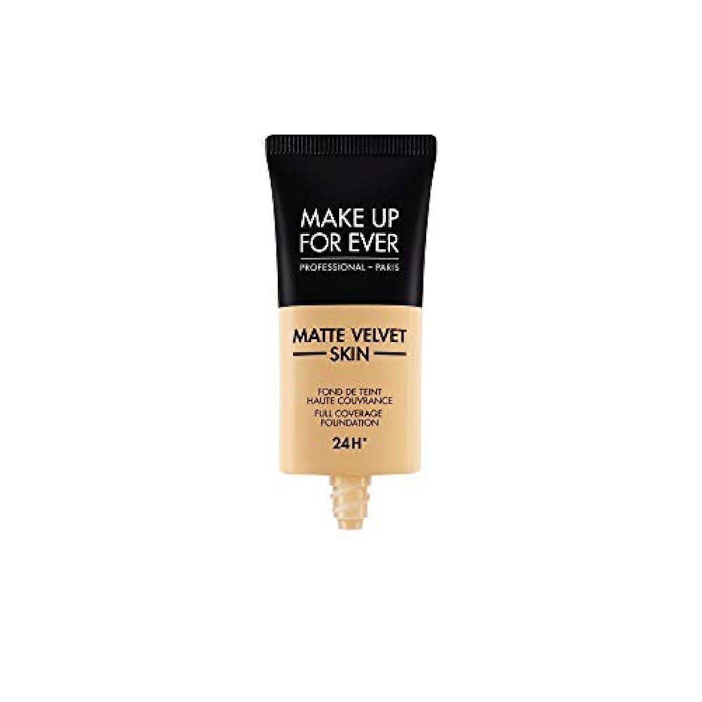 アラブ人の前で解読するメイクアップフォーエバー Matte Velvet Skin Full Coverage Foundation - # Y255 (Sand Beige) 30ml/1oz並行輸入品