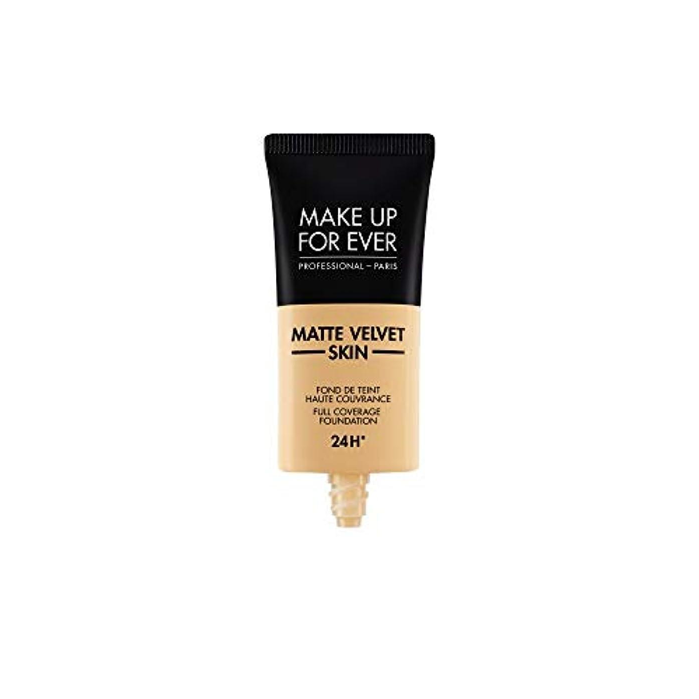 扱いやすい鉛筆不完全なメイクアップフォーエバー Matte Velvet Skin Full Coverage Foundation - # Y255 (Sand Beige) 30ml/1oz並行輸入品