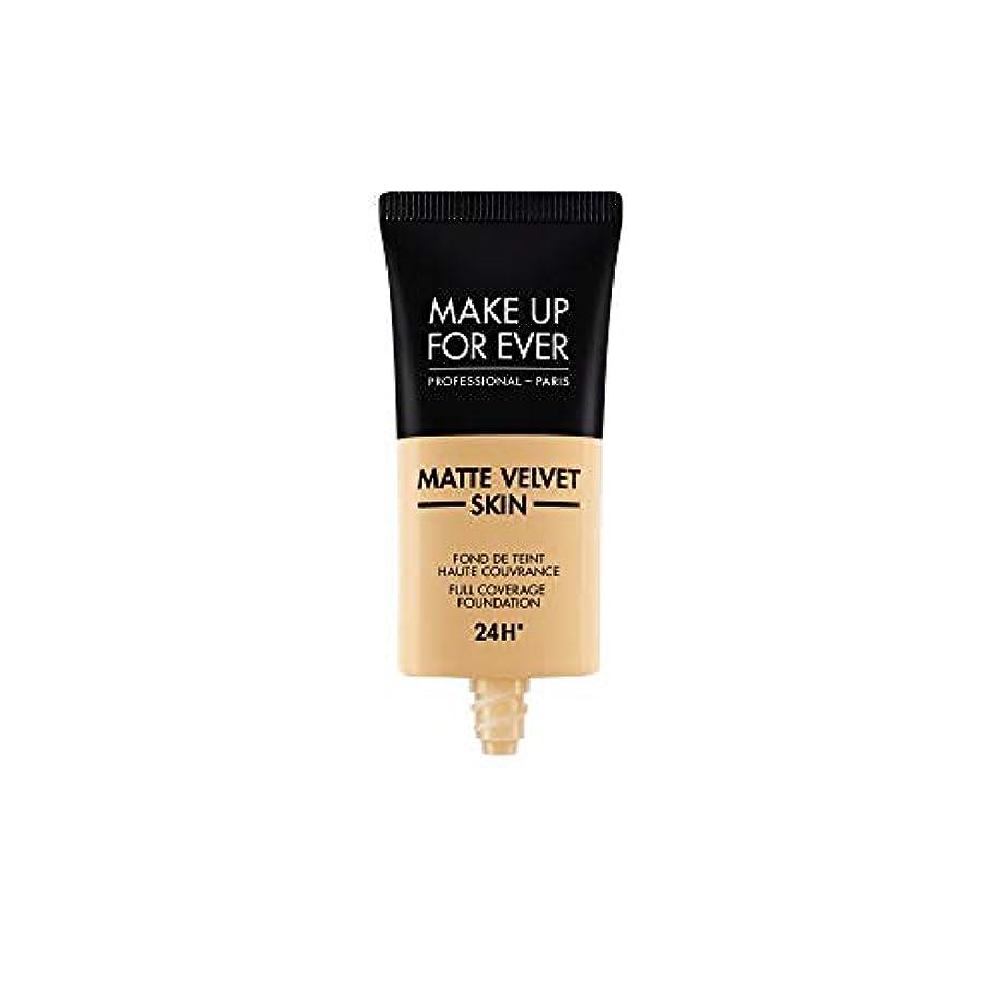 失われたタンカー失業者メイクアップフォーエバー Matte Velvet Skin Full Coverage Foundation - # Y255 (Sand Beige) 30ml/1oz並行輸入品