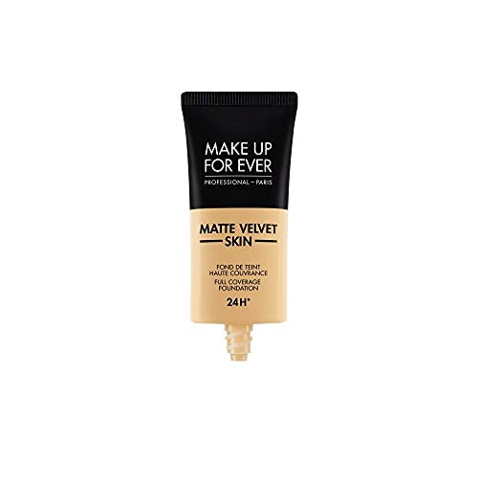 ペレグリネーション豊かにする出版メイクアップフォーエバー Matte Velvet Skin Full Coverage Foundation - # Y255 (Sand Beige) 30ml/1oz並行輸入品